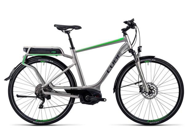 E-Bike Cube Touring Hybrid Pro 400 silver´n´flashgreen 2016