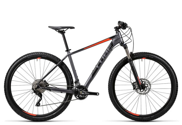 Mountainbike Cube Attention SL grey´n´flashred 2016