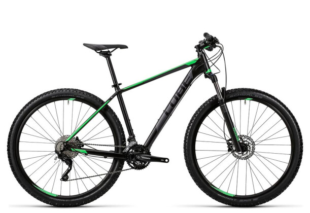 Mountainbike Cube Attention black´n´green 2016