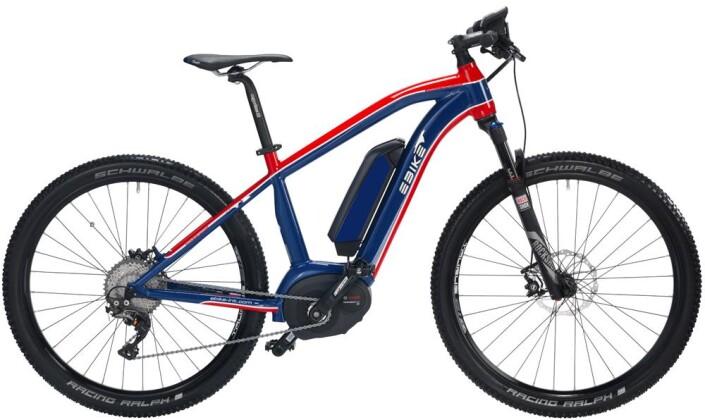 """E-Bike EBIKE PURE Rosso Azzuro 29"""" Bosch Performance CX 2016"""