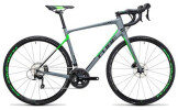 Rennrad Cube Attain GTC Pro Disc grey´n´flashgreen