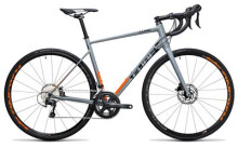 Rennrad Cube Attain Race Disc grey´n´flashorange