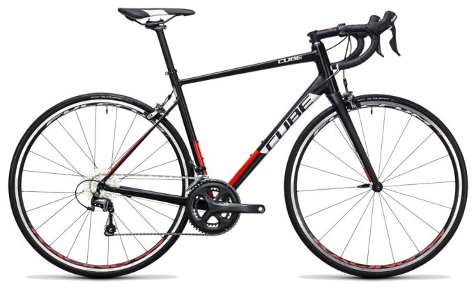 Rennrad Cube Attain Race black´n´red 2017