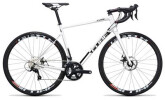 Rennrad Cube Attain Pro Disc white´n´black