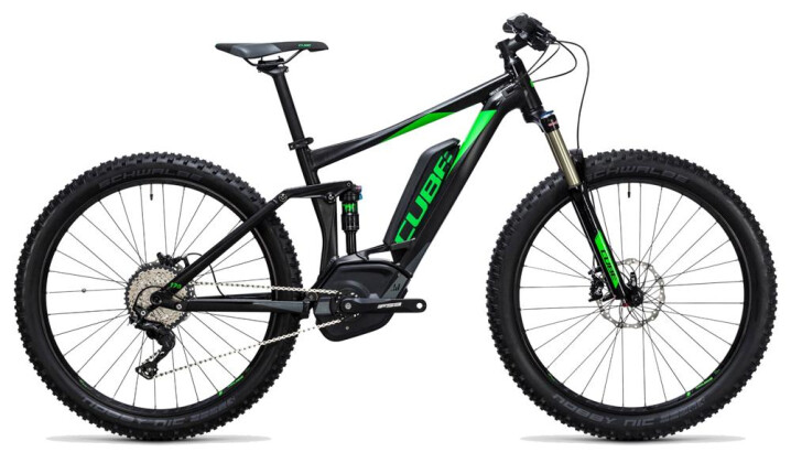 E-Bike Cube Stereo Hybrid 120 HPA Race 500 27.5+ black´n´green 2017