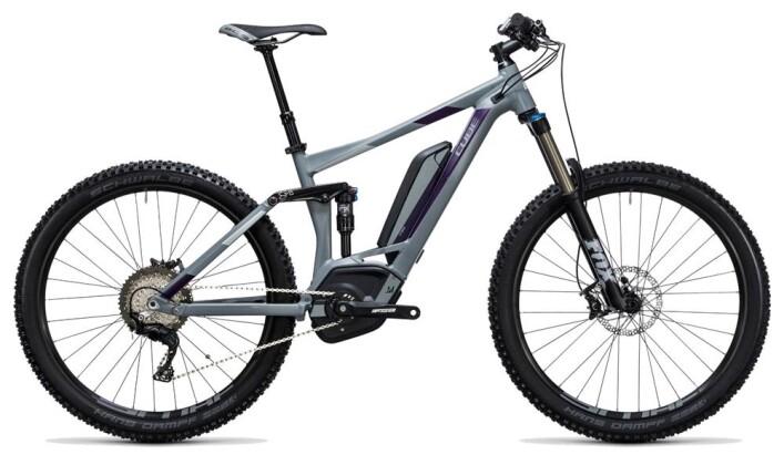 E-Bike Cube Sting WLS Hybrid 140 SL 500 27.5 grey´n´aubergine 2017
