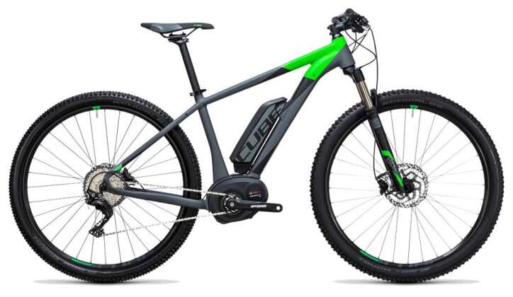 E-Bike Cube Reaction Hybrid HPA Race 500 grey´n´flashgreen 2017