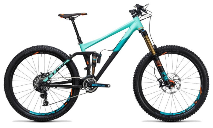 Mountainbike Cube Fritzz 180 HPA SL 27.5 black´n´mint 2017