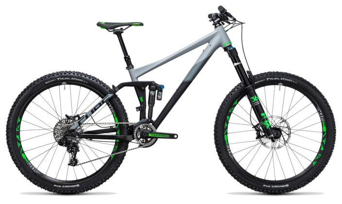 Mountainbike Cube Fritzz 180 HPA Race 27.5 black´n´grey 2017