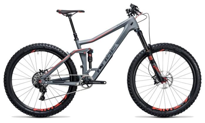 Mountainbike Cube Stereo 160 C:62 SL 27.5 grey´n´flashred 2017