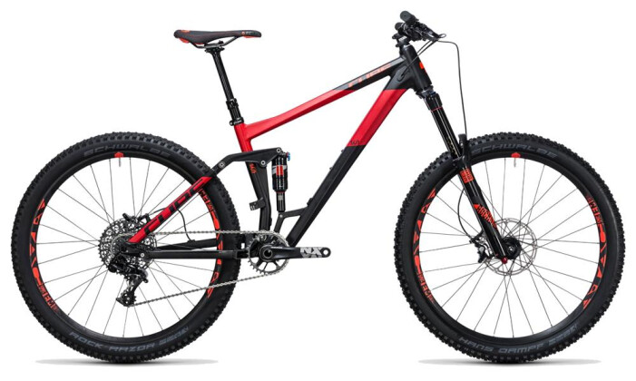 Mountainbike Cube Stereo 160 HPA Race 27.5 black´n´red 2017