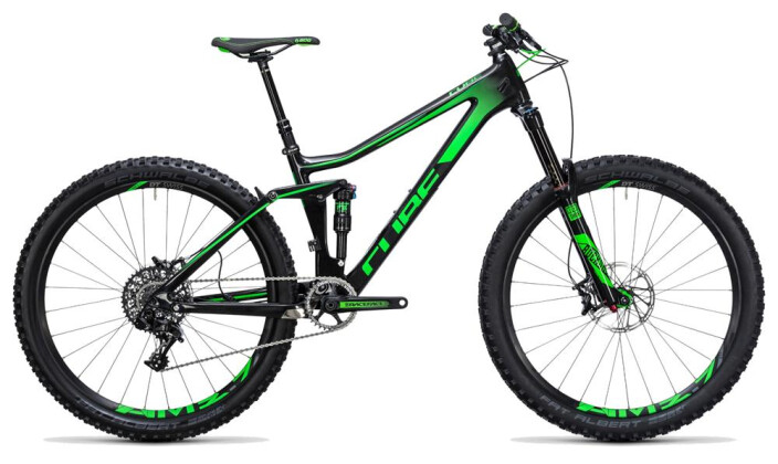 Mountainbike Cube Stereo 140 C:62 SL 27.5 carbon´n´green 2017