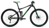 Mountainbike Cube Stereo 120 HPA SL black´n´green