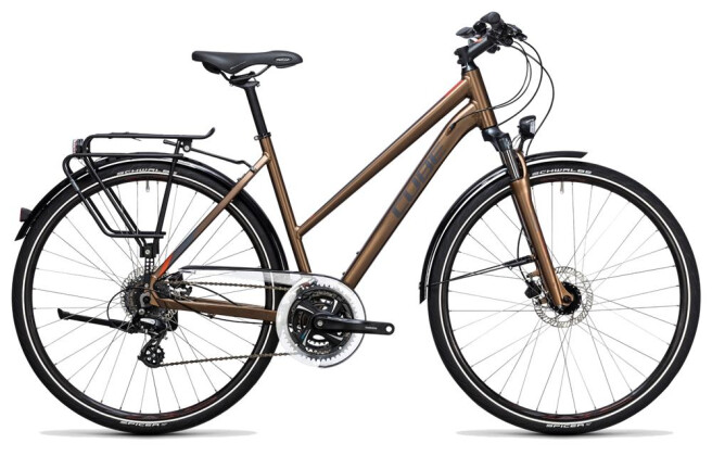 Trekkingbike Cube Touring Pro havanna brown´n´orange 2017