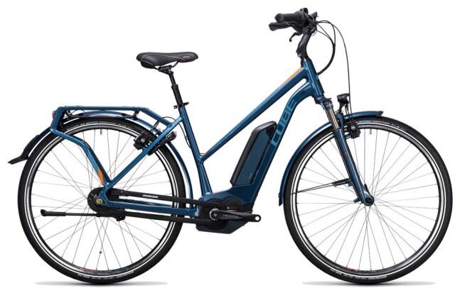 E-Bike Cube Travel Hybrid Pro 500 smoky blue´n´flashorange 2017