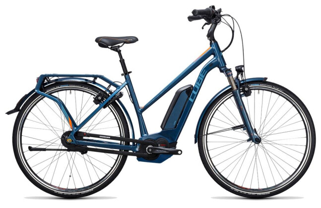 E-Bike Cube Travel Hybrid Pro 400 smoky blue´n´flashorange 2017