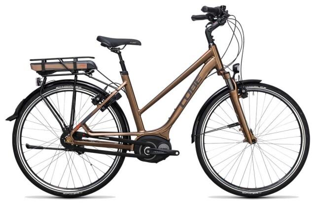E-Bike Cube Travel Hybrid 400 havanna brown´n´orange 2017