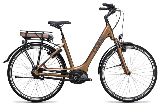 E-Bike Cube Travel Hybrid 400 havanna brown´n´orange 2017