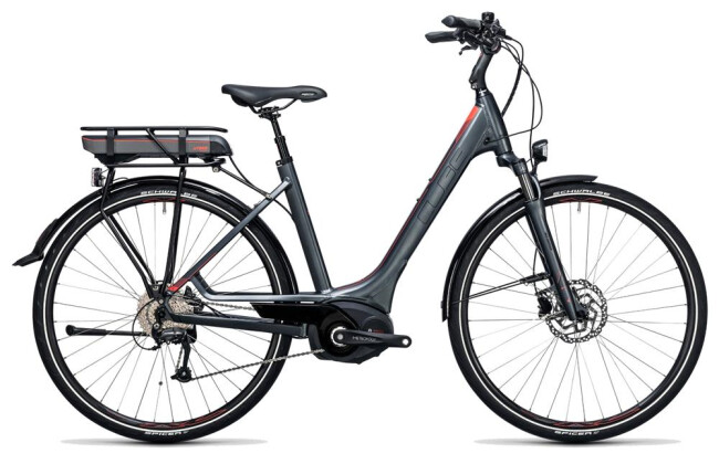 E-Bike Cube Touring Hybrid Pro 500 grey´n´flashred 2017
