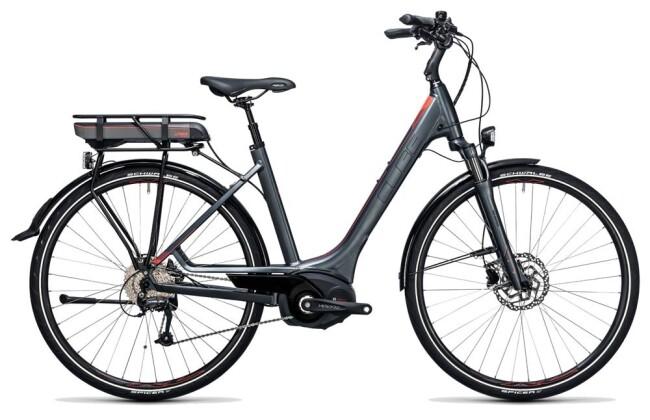 E-Bike Cube Touring Hybrid 400 grey´n´flashred 2017