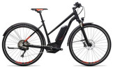 E-Bike Cube Cross Hybrid SL Allroad 500 black´n´flashred