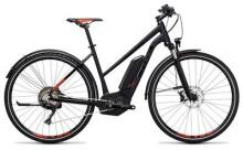 E-Bike Cube Cross Hybrid SL Allroad 500 black´n´flashred