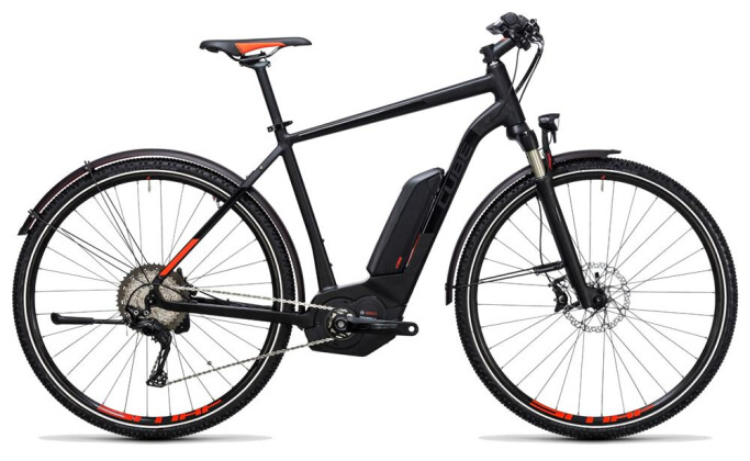 E-Bike Cube Cross Hybrid SL Allroad 500 black´n´flashred 2017
