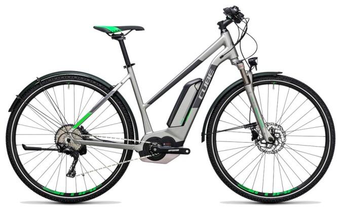 E-Bike Cube Cross Hybrid Race Allroad 500 silver´n´green 2017