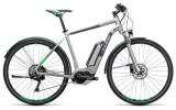 E-Bike Cube Cross Hybrid Race Allroad 500 silver´n´green