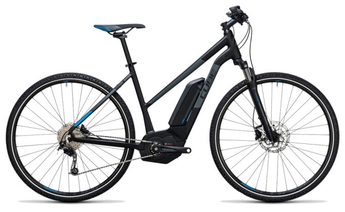 E-Bike Cube Cross Hybrid Pro 500 black´n´blue 2017