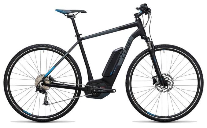 E-Bike Cube Cross Hybrid Pro 500 black´n´blue 2017