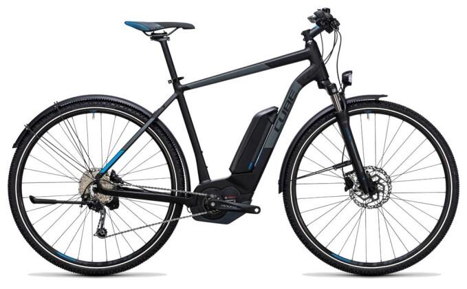 E-Bike Cube Cross Hybrid Pro Allroad 400 black´n´blue 2017