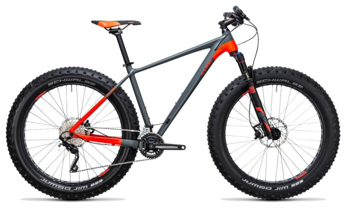 Mountainbike Cube Nutrail grey´n´flashred 2017