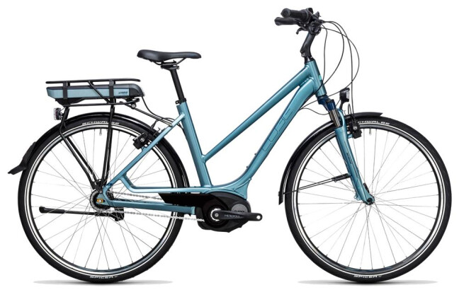 E-Bike Cube Travel Hybrid ONE 400 bluegreen´n´blue 2017