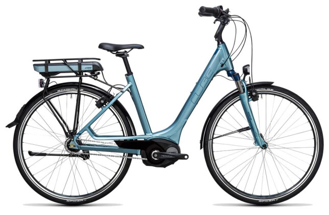 E-Bike Cube Travel Hybrid ONE 400 bluegreen´n´blue 2017