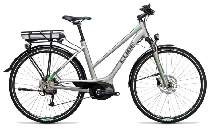 E-Bike Cube Touring Hybrid ONE 500 silver´n´flashgreen 2017