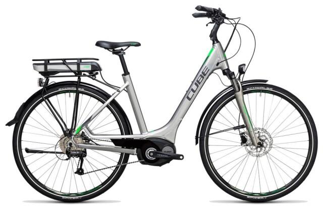 E-Bike Cube Touring Hybrid ONE 500 silver´n´flashgreen 2017