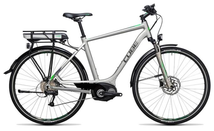 E-Bike Cube Touring Hybrid ONE 400 silver´n´flashgreen 2017