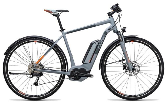 E-Bike Cube Cross Hybrid ONE Allroad 500 grey´n´orange 2017