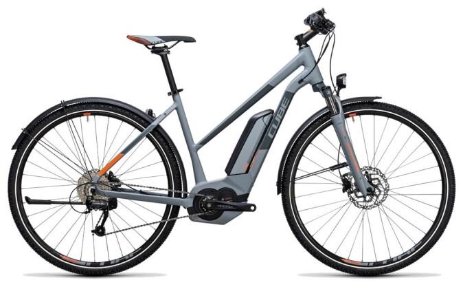 E-Bike Cube Cross Hybrid ONE Allroad 400 grey´n´orange 2017
