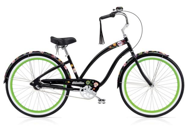 Cruiser-Bike Electra Bicycle Sugar Skulls 7i Ladies' 2017