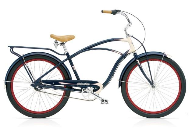 Cruiser-Bike Electra Bicycle Super Deluxe 3i Men's 2017
