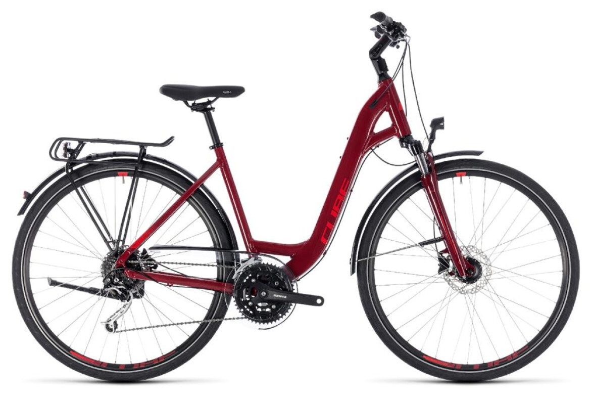Cube Touring EXC Damen Tiefeinstieg darkred´n´red 2018