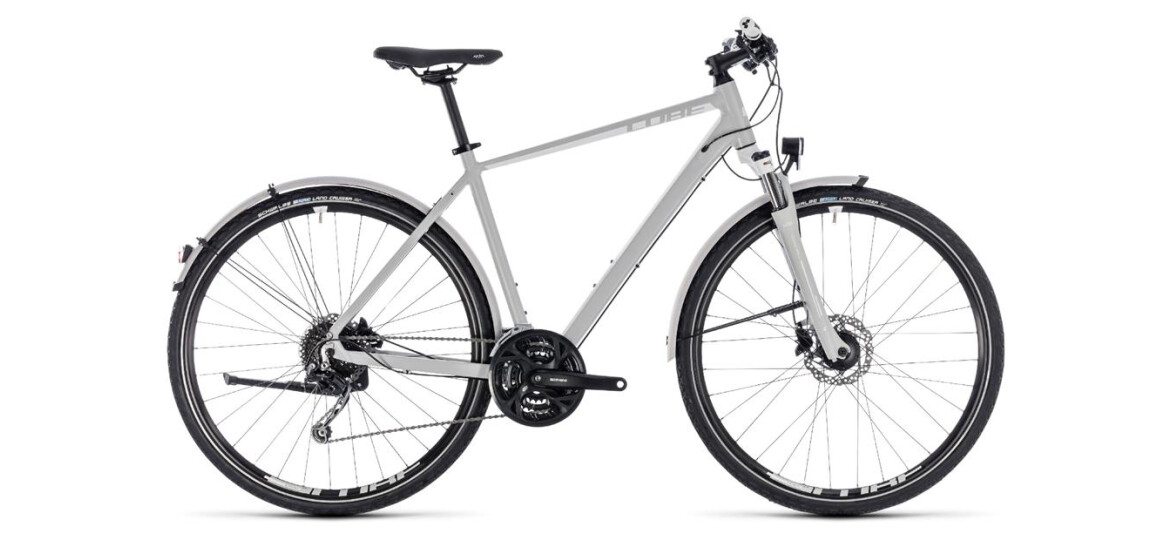 Cube Nature Pro Allroad Herren bright grey-n-white 2018