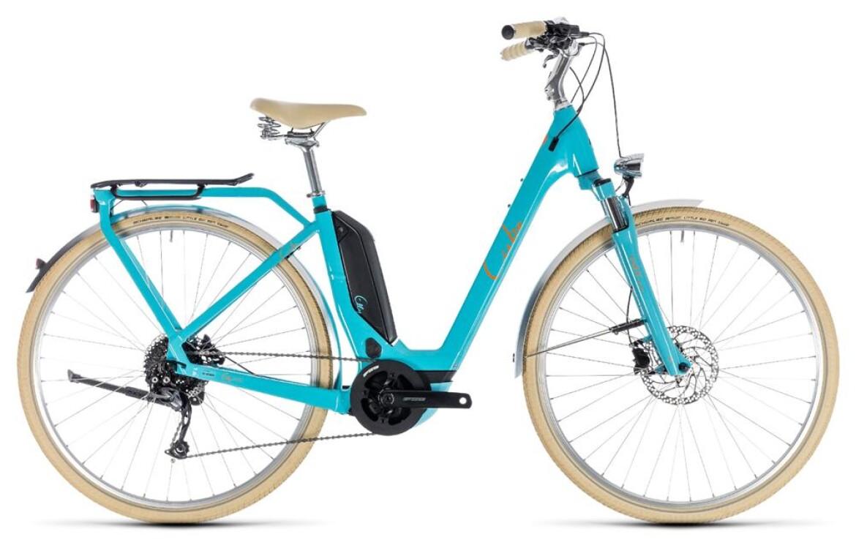 Cube Elly Ride Hybrid 500 aqua´n´orange 2018