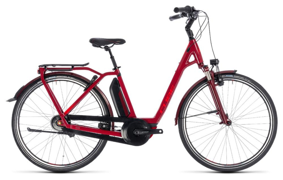 Cube Town Hybrid Pro 500 Easy Entry darkred´n´red 2018