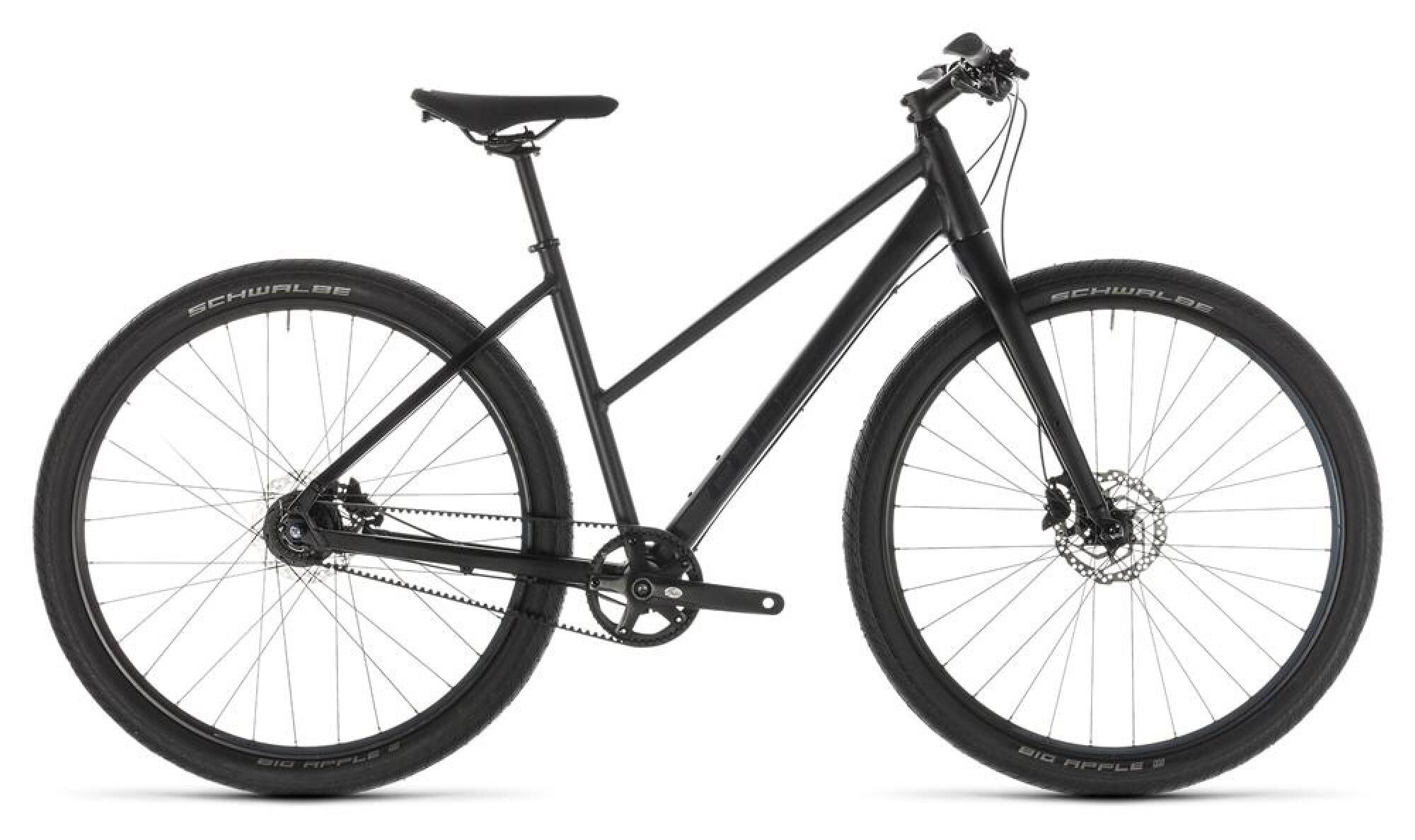 urban bike cube hyde pro black n blue trapez 2019 bei. Black Bedroom Furniture Sets. Home Design Ideas