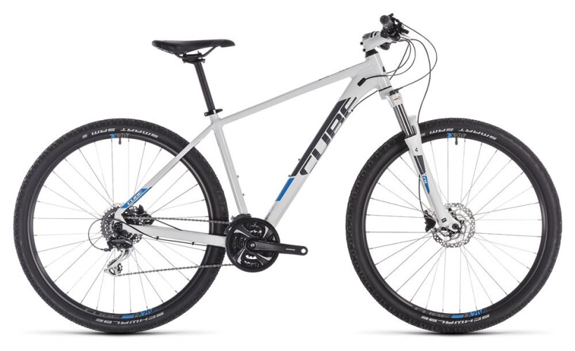 Cube Aim Race white-n-blue 29er 2019