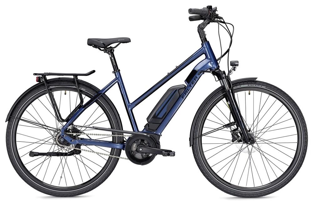 Falter E 9.0 RT, Trapez 45, 400Wh, blau/schwarz glänzend