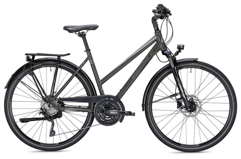 Morrison T 5.0, Trekkingbike mit 30-Gang Shimano Kettenschaltung, Suntour Federgabel, 35LUX Scheinwerfer, Da